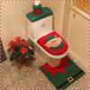 Christmas Decorations Snowman Toilet Three-Piece Set Christmas Ornaments Holiday Supplies Bathroom Decoration