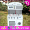 New Design Pretend Play White Wooden Toy Kitchens for Toddlers W10c267