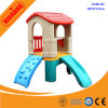 Kids School Game Center Plastic Small Play House with Slide