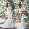 Strapless Lace Bridal Gowns Mermaid Colorful Wedding Dresses Y1013