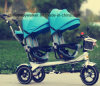 2 Seats Child Tricycle/Baby Tricycle New Models/Kids Metal Tricycle