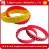 Embossed Logo Custom 1 Inch Silicone Wristbands