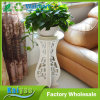 White Wooden Flower Pot Rack Garden Flower Shelf Rack