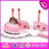 Kids Wooden Birthday Cake Cutting Toy with Candles, Hot Sale Wooden Toy Birthday Cake for Children W10b136