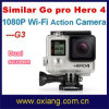 G3 Go PRO Style Hero 4 WiFi Waterproof 30 Meters Action Sport Camera DV (OX-G3)