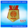 Marathon Quadrate Glazed Sport Metal Medal with Ribbon