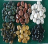 Black/White/Red/Yellow/Green/Mixed/Stripe Beach Pebble Decoration