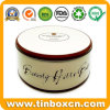 Round Metal Large Bakery Cake Tin Box for Food Storage