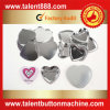 Talent Button Heart 53X57.5mm Pin Button
