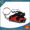 High Quality Customized Bus Shape Rubber Key Chain with Die Casting at Factory Price