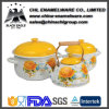 Facotry Customized Pattern Decorative Durable Enamel Cast Iron Casserole