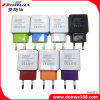 Mobile Phone EU Plug 2 USB Adapter Travel Charger