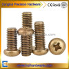 Brass Pan Head Machine Screws / Pan Head Phillips Brass Machine Screws