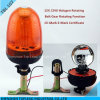 Tbl 107 Halogen Rotating Warning Light, 12V/24V H1 Halogen Revolving Warning Light