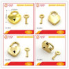 High End Gold Lover Shape Heart Lock Set with Key for Bag Accessories
