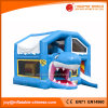2017 Inflatable Jumping Shark Combo Bouncer with Roof (T3-420)