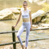 Soft Comfy White Mesh Yoga Wear Suits