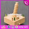 Handmade DIY Crafts Natural Beech Wood Kids Music Box W07b040