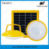 Green Solar Lighting System with 3 Brightness to Light 2 Rooms