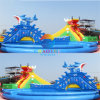 Giant Dragon Slide Inflatable Water Park with Swimming Pool