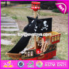New Products Children Mini Wooden Toy Pirate Ship W03b060
