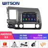Witson Quad-Core Android 9.0 Car DVD GPS for Honda Civic 2006-2011 External Microphone Included, Built-in TPMS Function