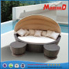 Beach Wicker Rattan Daybed with Canopy and Footrest