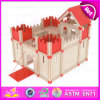 2015 Indoor Play Kids Wooden Mini Castle Toy, Famous Building Child Wooden Toy Castle, Wooden Folding Medieval Castle Toys W06A111