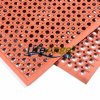 Drainage Rubber Mat Anti-Slip Kitchen Mats Anti-Static Rubber Mat