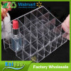 24 Stand Transparent Plastic Trapezoid Makeup Display Stand Cosmetic Lipstick Organizer