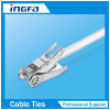 Ratchet Locking Saving Time Stainless Steel Cable Tie