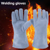 Guangzhou Supply 12inch Grey Cow Leather Welding Gloves