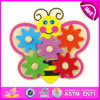 2015 New Kids Wooden Gear Game Toy, Popualr Cute Children Gear Game Toy, Lovely Baby Butterfly Wooden Gear Game Toy W13e033