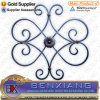 Iron Panel Forged Rosette with Stamping or Cast Steel Flower