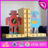 2015 Brand New Wooden Robot Bookend, Hot Sale Wood Robot Bookend, Lovely Bookend Robot Wooden W08d046