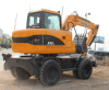 China New Hydraulic Excavator 8 Ton 39.8kw Wheel Excavator for Sale