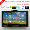 "Android 7.0"" Multi-Touch Car Digital Video Recorder Built in 1GB DDR,8GB Flash;FM Transmitter;GPS Navigation;2.0mega Full HD1080p Camera ;AV-in Parking Camera"