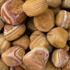 High Quality Wood Color Beach Pebbles for Decoration