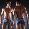 Men Sexy Aqua Shorts, Square Leg Swimsuit for Swimming