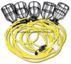 Construction/Temporary String Light UL/ETL/CSA Certified Sjtw, Stw 50FT 12/3c Metal Cage