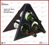 Foldable Leather Wine Rack for Three Bottles (3267)