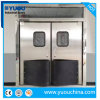 Dust-Free Customized Stainless Steel or ABS Plastic Impact Bumper Metal Double Leaf Acting Swinging Traffic Doors for Food Factory or Supermarket