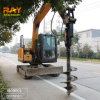 Mini Excavator Attachment Hydraulic Earth Auger Screw Anchor Auger Drive