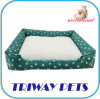 Overstuffed Luxury Lounger Printed Cotton Pet Bed