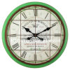 Antique Green Vintage Round Wooden Wall Decor Clock