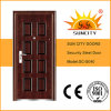 Small Exterior Door Photos Steel Door Design Wrought Iron Door Inserts (SC-S040)
