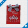 Red Woven Fabric Label for Dolls with Bowknot