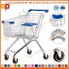 Good Quality European Style Zinc Supermarket Shopping Cart Trolley Zht134