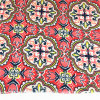 T/C 6535 Polyester Cotton Terry Rayon Red Flower Fabric for Elder