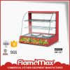 Commercial Electric Curved Food Warmer Display Showcase with Trays